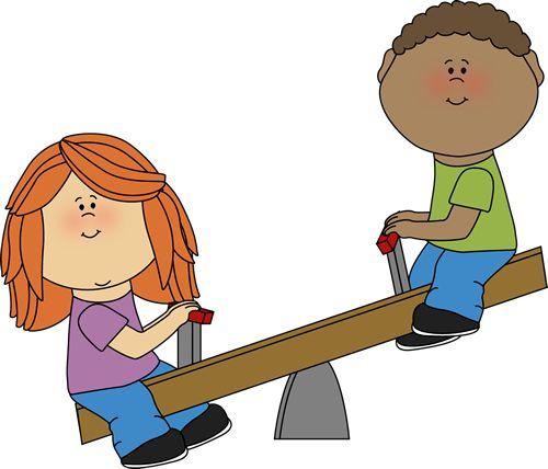 Enfants sur bascule 2.