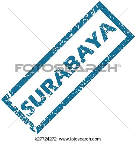 Clipart of Surabaya rubber stamp k27724272.
