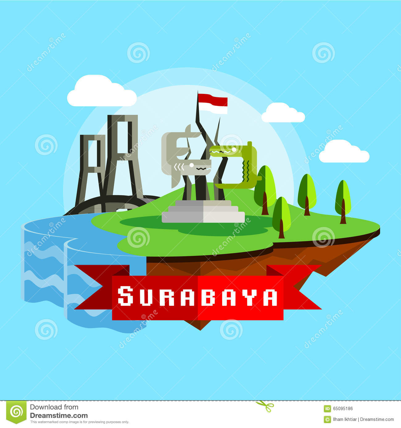 Surabaya Stock Illustrations.