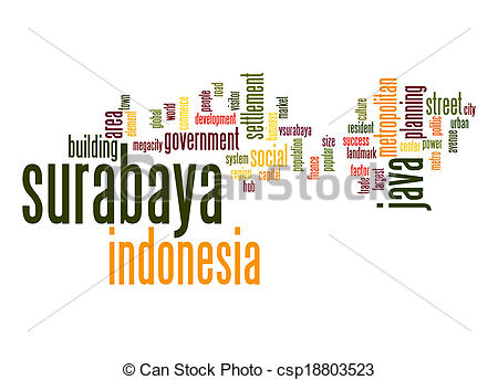Clip Art of Surabaya word cloud csp18803523.
