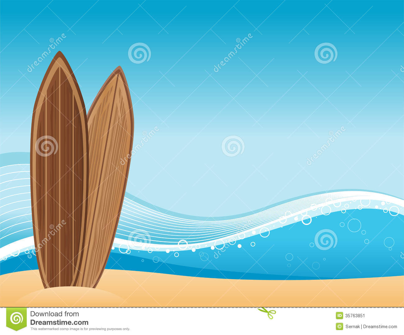 Surf Beach Background Stock Image.