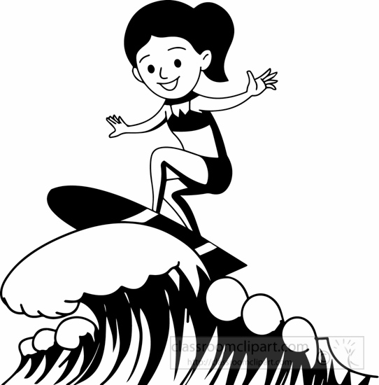 Free Surfer Clipart Black And White, Download Free Clip Art.