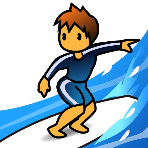 Surfer Emoji for Facebook, Email & SMS.
