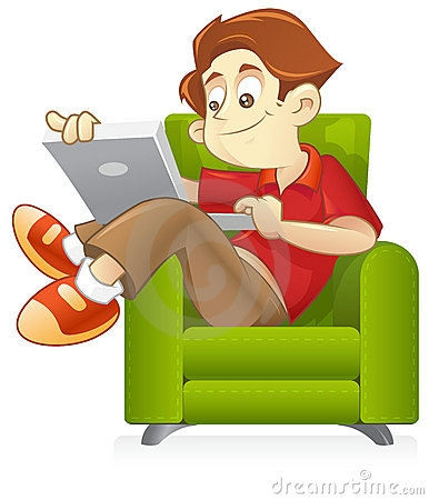 Surf the internet clipart.