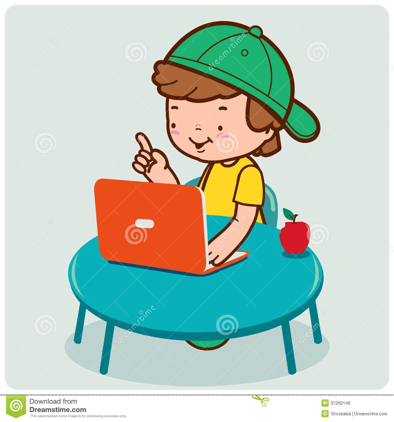 Surfing The Internet Clipart.