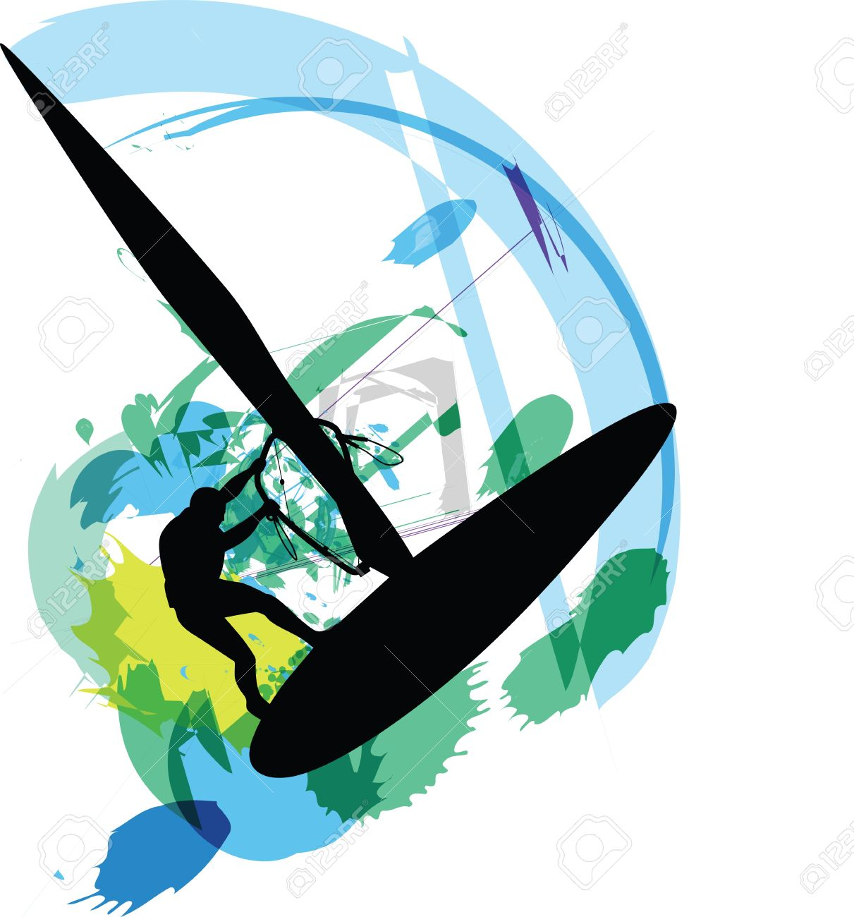 Wind Surf Illustration Royalty Free Cliparts, Vectors, And Stock.