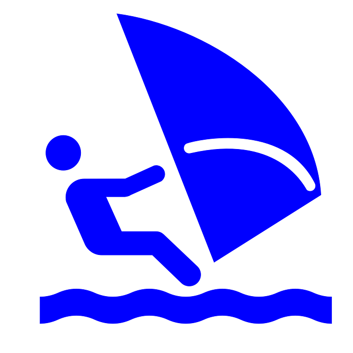 Free vector graphic: Windsurfing, Surfing, Wind, Water.