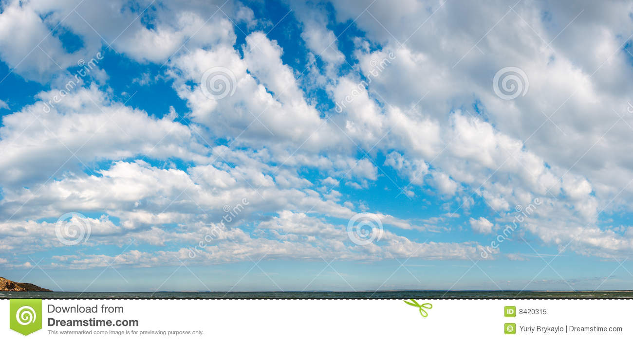 Panoramic Blue Skies Clipart.