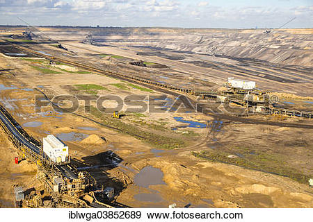 "Stock Photograph of ""Tagebau Hambach surface mine, North Rhine."