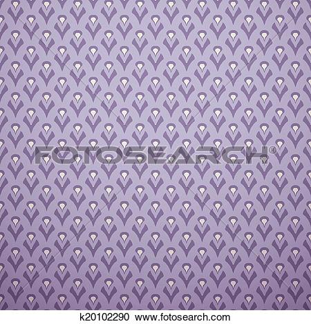 Clipart of Lilac vector seamless pattern (with square swatch.