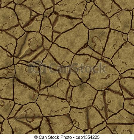 Stock Illustrations of Cracked earth.