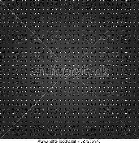 Seamless Metal Surface Texture Dotted Perforated Black Background.