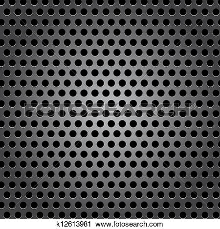 Clipart of Seamless circle metal surface texture k12613981.