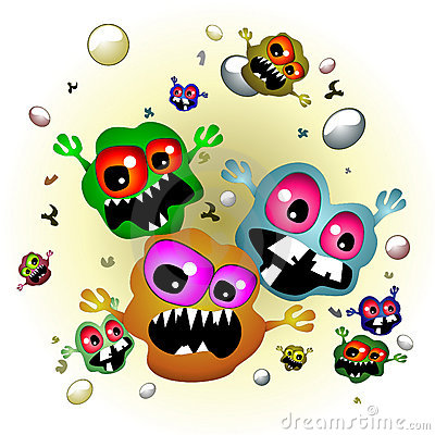 Germs On Surfaces Clipart.