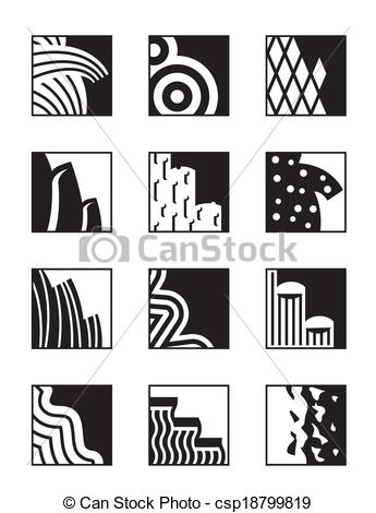 Vector Clip Art of Different building surfaces.