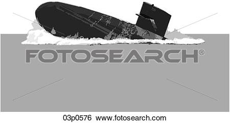 Clip Art of surfacing steep 03p0576.