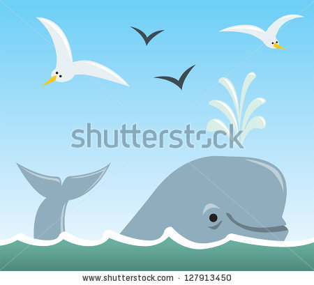 Surfacing from water clipart.