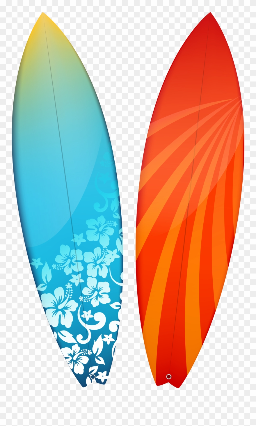 Surfboards Clipart Image.