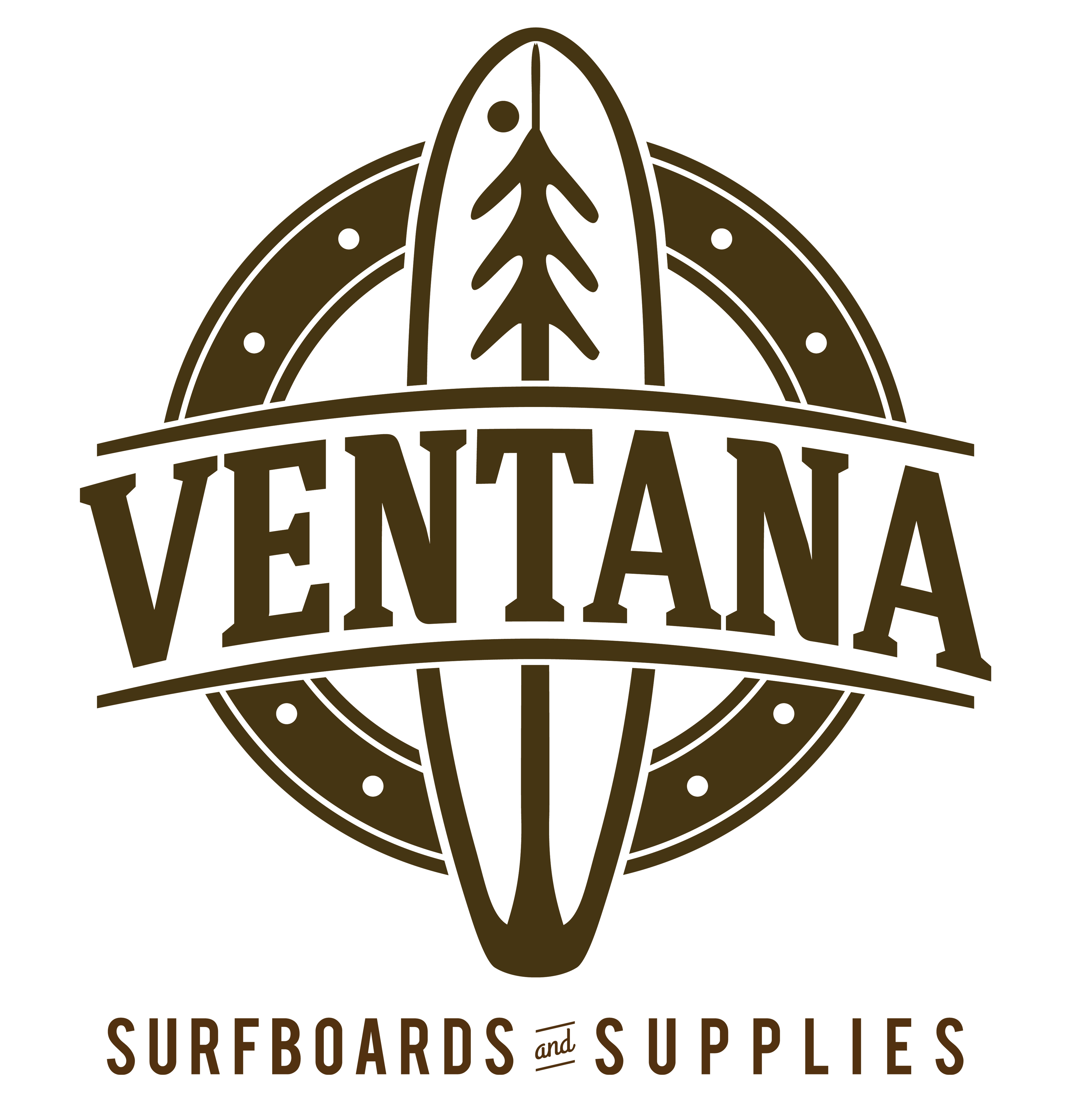 surfboard logo.