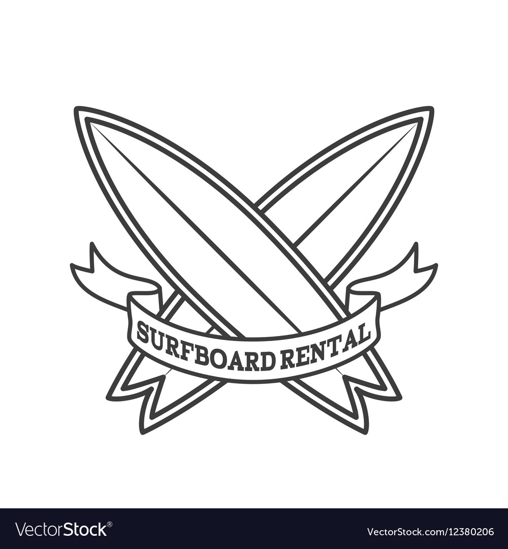 Surfboard rental logo design Surfing logotype.