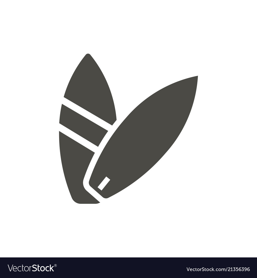 Surfing icon surfboard symbol isolated tr.