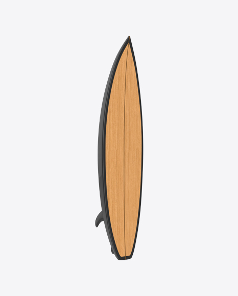 Download Wooden Surfboard Transparent PNG on Yellow Images 360°.