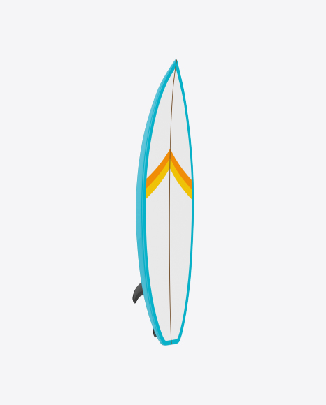 Download White Surfboard with Stripes Transparent PNG on Yellow Images 360°.
