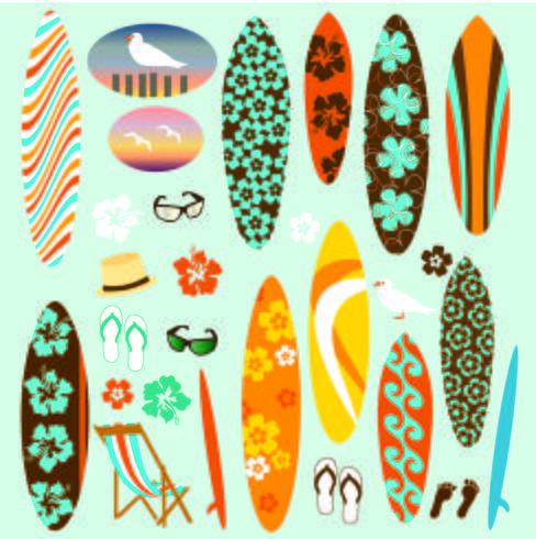 Surfboard Clipart.