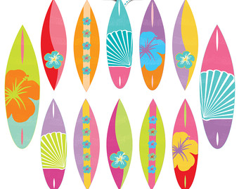 Surf board clipart.