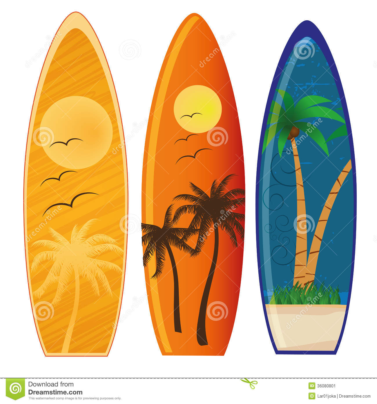Surfboards Surfing Clipart.