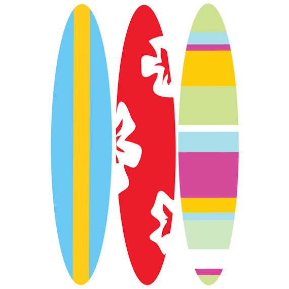 Free Surfboard Clipart Pictures.