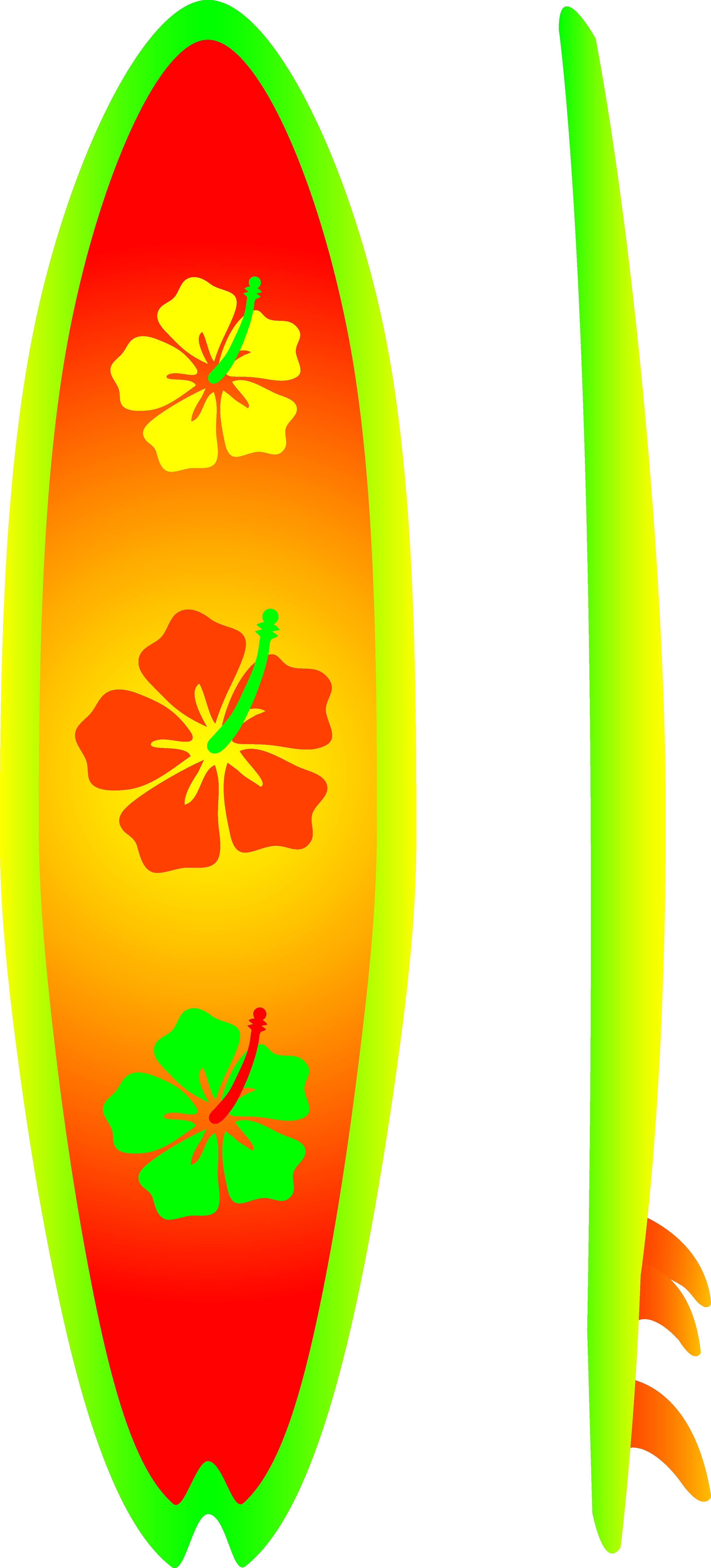 Surfboard Clip Art Illustrations.