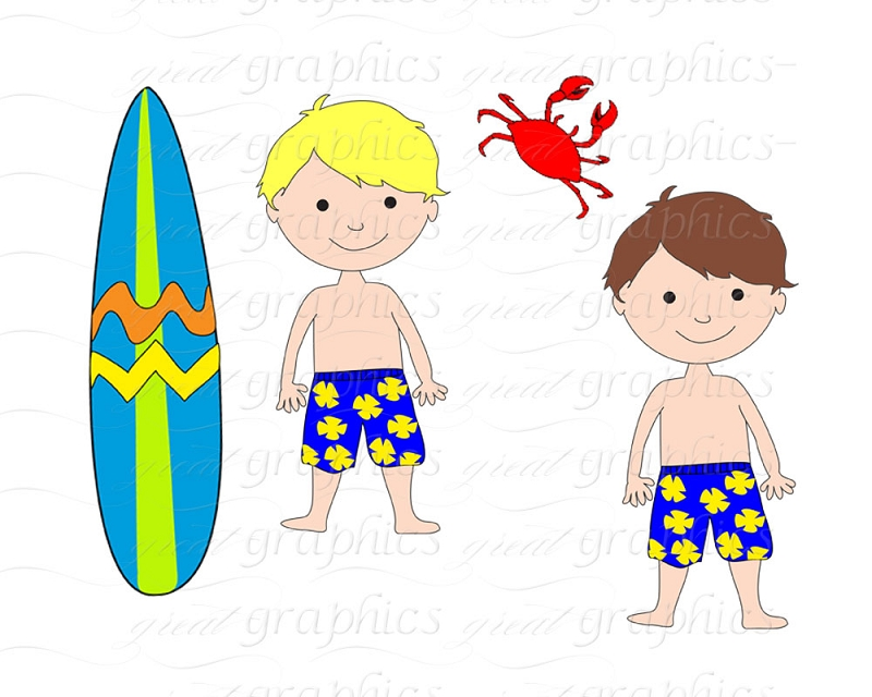 Collection of Surfer clipart.