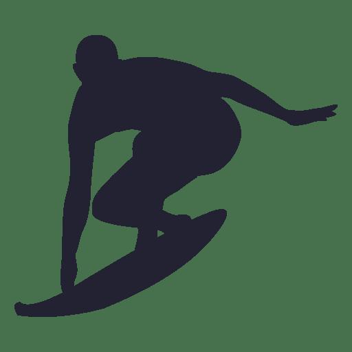 Big wave surfing Surfboard Silhouette Clip art.