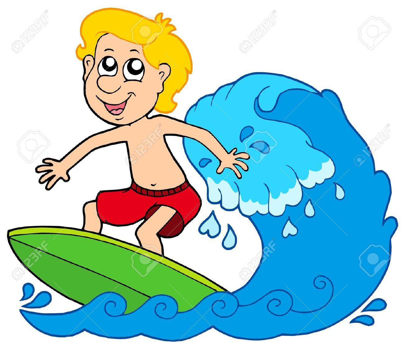 Cartoon Surfer Boy.