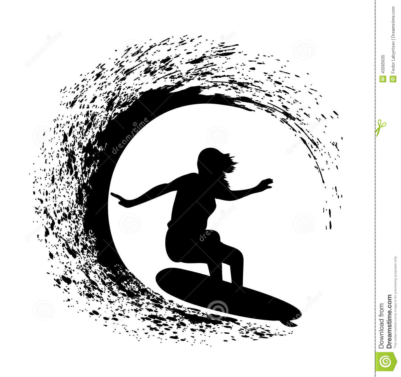 Surfer Clipart Vector.