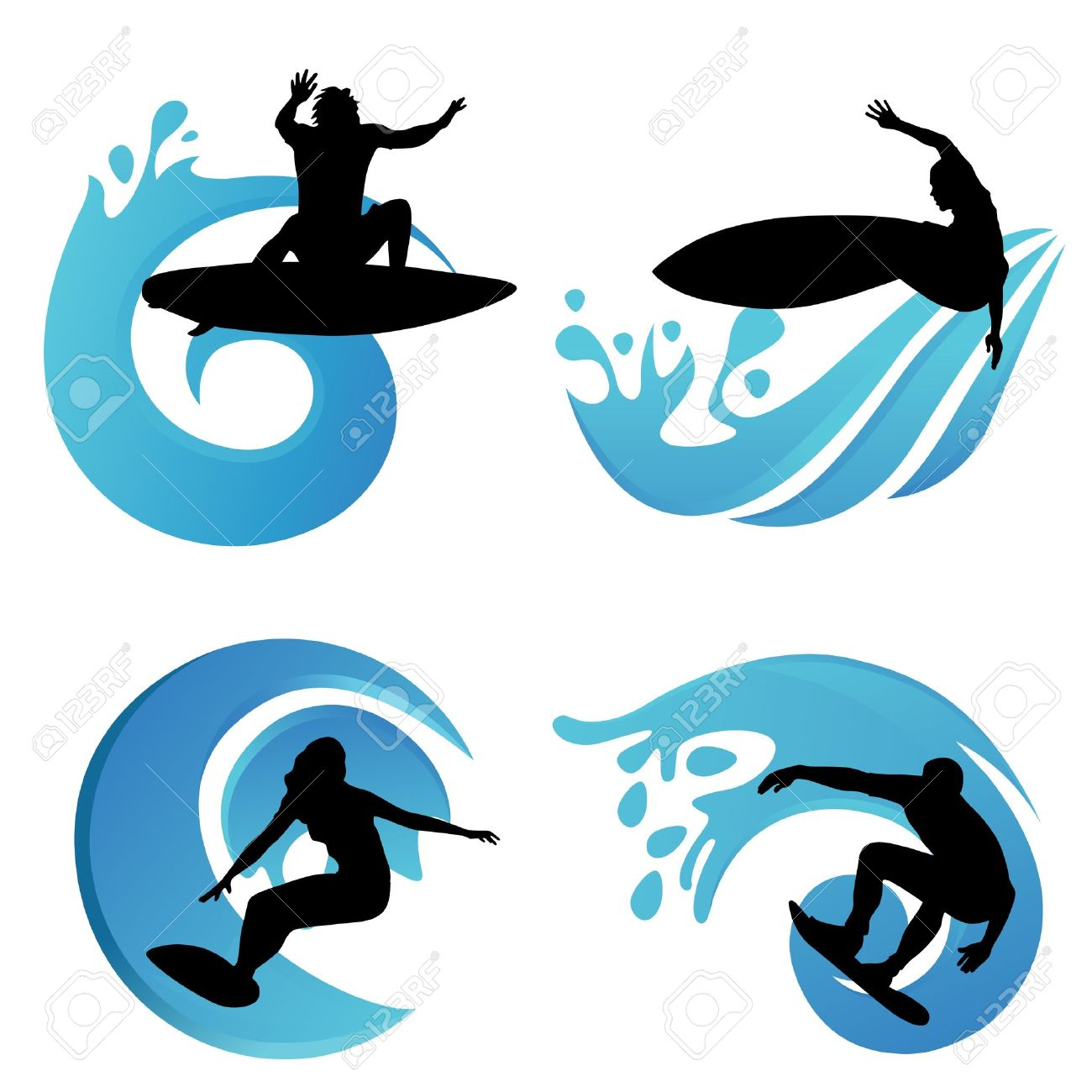 12,068 Surfboard Stock Vector Illustration And Royalty Free.
