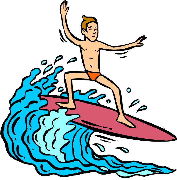 Surfer Dude Clip Art.