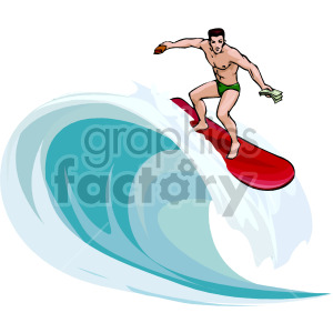 surfer clipart. Royalty.