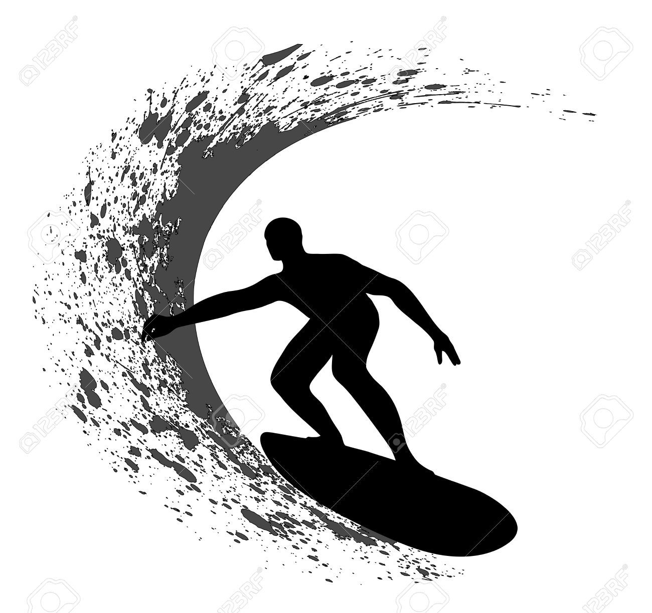 surfing silhouette: Surfer.