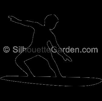 Surfer Silhouette.