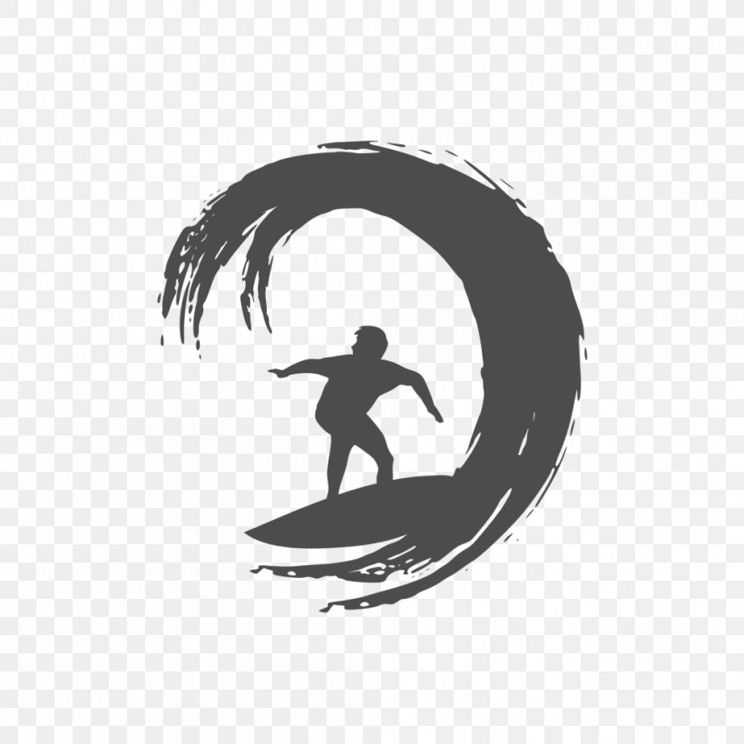 Logo Surfing Silhouette, PNG, 999x999px, Logo, Banner, Black.
