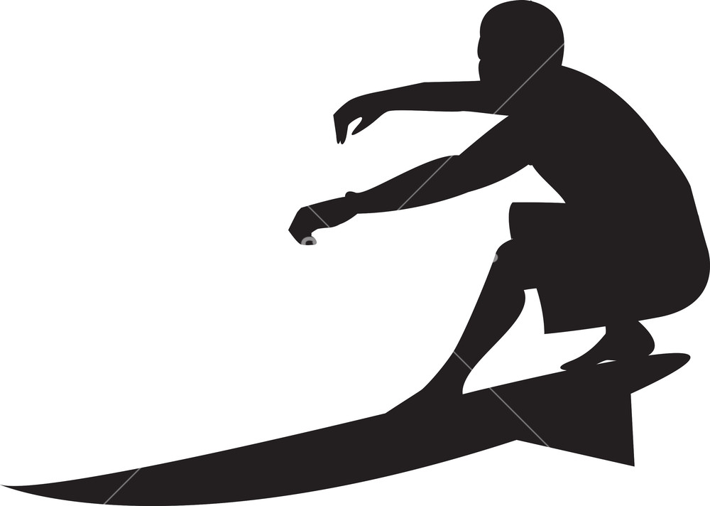 Vector Surfer Silhouette Royalty.