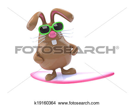 Drawings of 3d Surfing bunny k19160364.