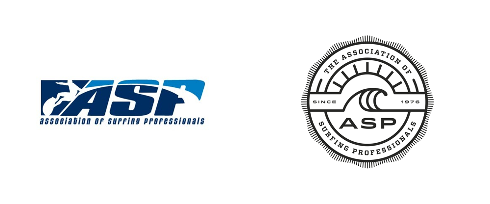 Brand New: New Logo for Association of Surfing Professionals.