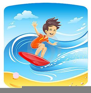 Cartoon Surfer Clipart.