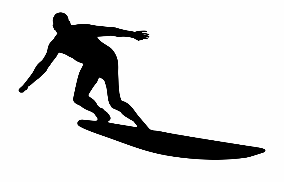 This Free Icons Png Design Of Man Surfing Silhouette.