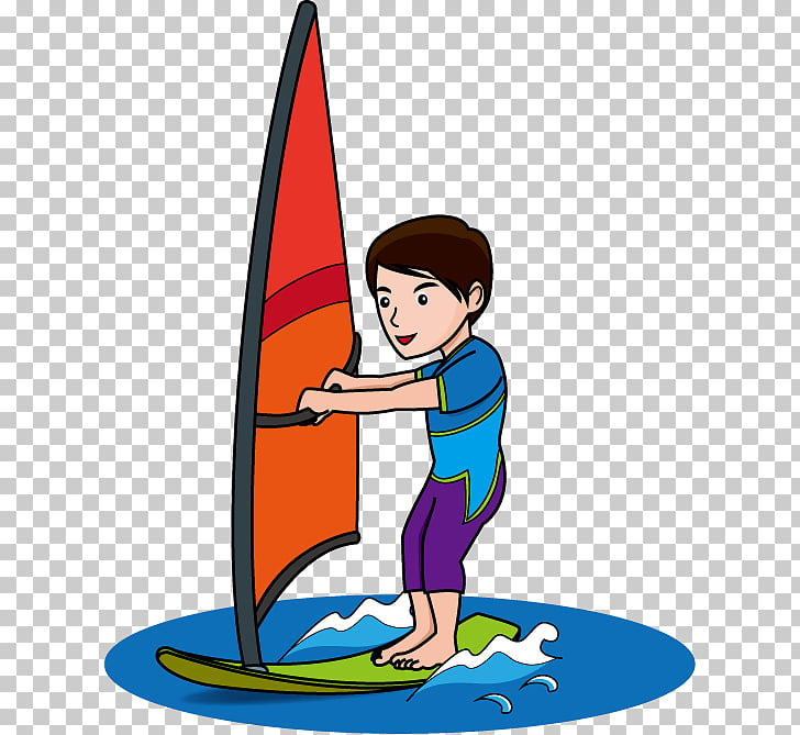 Windsurfing Surfboard Sport , surfing PNG clipart.