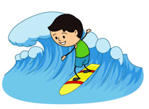 Surfing Clipart Images.
