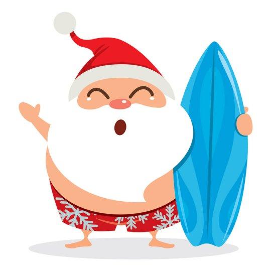 Download santa surfing clipart Santa Claus Surfing Clip art.